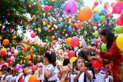 Hình ảnh lễ khai giảng năm học mới trường TH Hoàng Hoa Thám 2017 – 2018